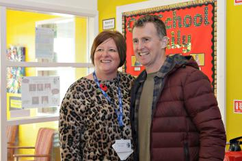 World Cup referee visits Damhead PS