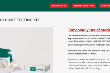 COVID 19 CRISIS: Government intervention demanded as Randox run out of Coronavirus Home Testing Kits