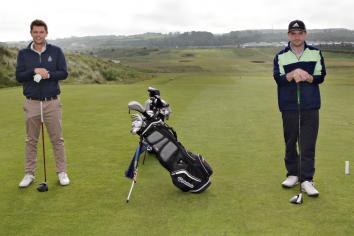 Sun shines as golfers return to fairways