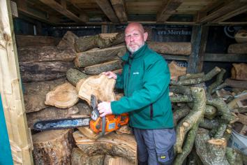 Ballycastle wood turner carves centuries old Spanish Armada tree
