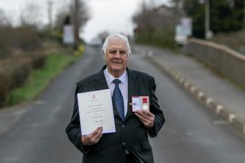 Norman Crooks receives his BEM Honorary Medal