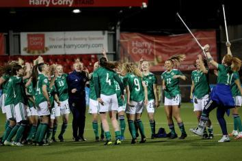 Deirdre Hargey praises history making women's football team