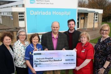 The McAuley's 9,500 thanks to Dalriada Hospital!