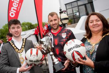 Northern Ireland star Niall McGinn kicks-off Foyle Cup
